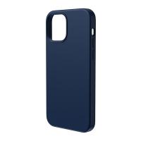 Чехол Baseus Liquid Silica Gel Magnetic + защитное стекло для iPhone 12/12 Pro Синий