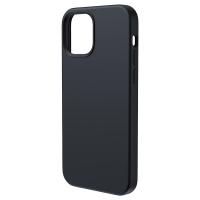 Чехол Baseus Liquid Silica Gel Magnetic + защитное стекло для iPhone 12 Pro Max Черный