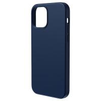 Чехол Baseus Liquid Silica Gel Magnetic + защитное стекло для iPhone 12 Pro Max Синий