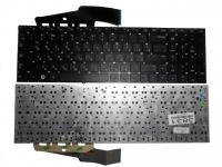 Клавиатура для ноутбука Samsung NP300E7A NP305E7A черная без рамки Прямой Enter