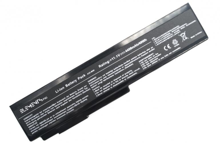Батарея Elements PRO для Asus M50V M50S M51E M51S M51V X55S X57V G50V N61J N61V N61W X64J 11.1V 4400mAh