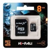 Карта памяти Hi-Rali micro SDHC 8GB Class 10 + адаптер UHS-1