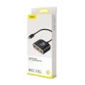 USB Hub Baseus Square Round 4 in 1 Type-C to USB3.0*1 + USB2.0*3 Черный