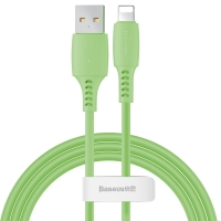 Кабель Baseus Colorful USB 2.0 to Lightning 2.4A 1.2M Зеленый