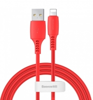 Кабель Baseus Colorful USB 2.0 to Lightning 2.4A 1.2M Красный