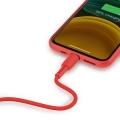 Кабель Baseus Colorful USB 2.0 to Lightning 2.4A 1.2M Красный