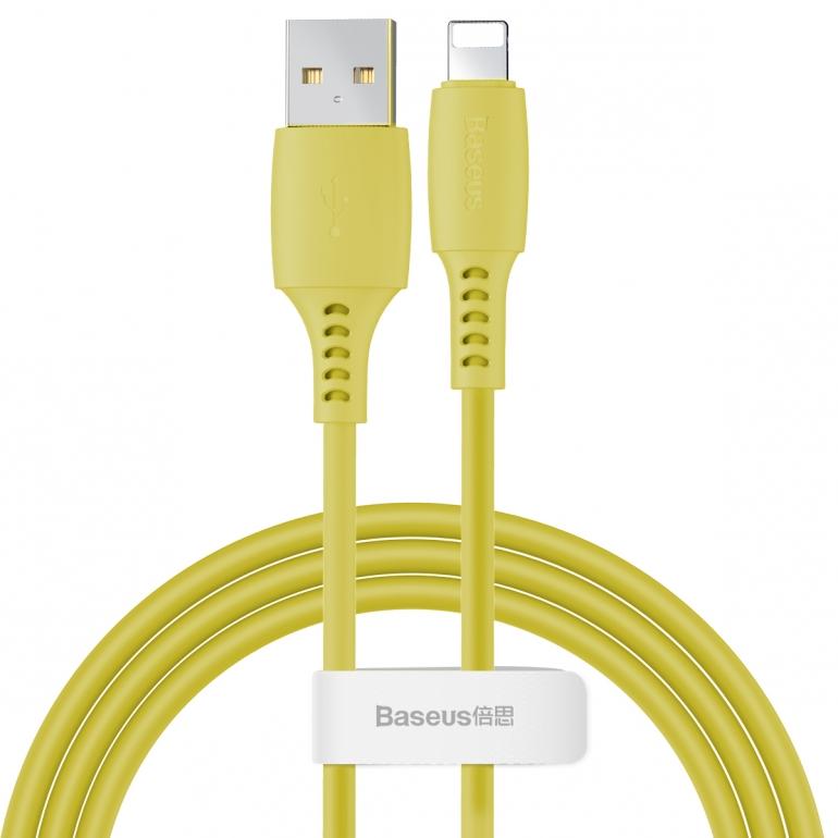 Кабель Baseus Colorful USB 3.0 to Lightning 2.4A 1.2M Желтый