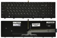 Клавиатура Dell Inspiron 15-3541 3542 3543 5521 5542 5545 5547 5548 7559, черная, подсветка, Оригинал