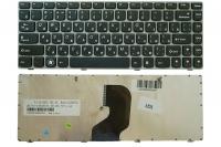 Клавиатура для ноутбука Lenovo Ideapad Z450 Z460 Z460A Z460G черная/серая