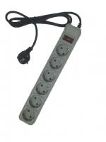 Сетевой фильтр LogicPower LP-X6, серый, 6 розеток, 3,0 m