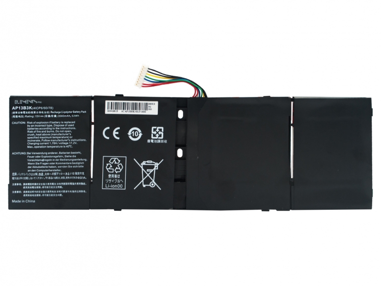 Батарея Elements PRO для Acer Aspire M5-583P R7-571 R7-572 V5-472 V5-473 V5-552 V5-572 V5-573 15V 3560mAh