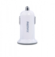 Автомобильное зарядное устройство Remax Mini USBx2 2.4A/1A White