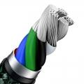 Кабель Baseus Cafule metal Type-C to Lightning PD 20W 2M Зеленый