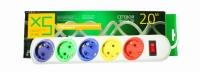 Сетевой фильтр LogicPower LP-СX5, 5 цветных розеток, 5,0 m