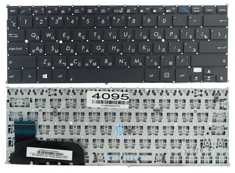 Клавиатура Asus Taichi 21 черная без рамки Прямой Enter
