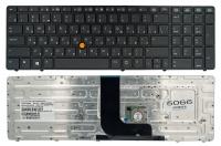 Клавиатура HP Elitebook 8560W 8570W черная Fingerpoint