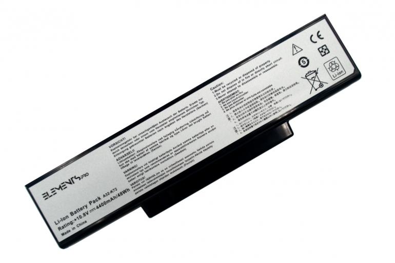 Батарея Elements PRO для Asus A72 K72 K73 N71 N73 X77 11.1V 4400mAh