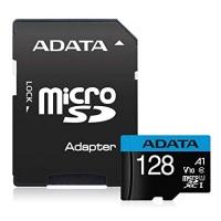 Карта памяти ADATA microSDXC 128GB Class 10 UHS-I Premier A1 + SD-адаптер