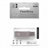 USB накопитель T&G 007 Metal series 8GB USB 3.0/Lightning Silver