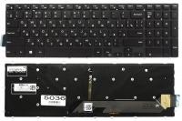 Клавиатура для ноутбука Dell Inspiron 15-5565 5567 5568 5665 7566 7569 7588 17-5765 5770 7778 7779 черная без рамки Прямой Enter подсветка