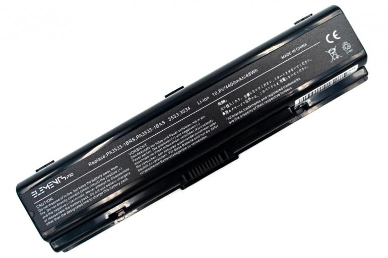 Батарея Elements PRO для Toshiba Satellite A200 A215 A300 A350 A500 L300 L450 L500 10.8V 4400mAh