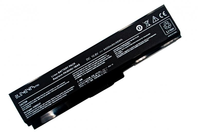 Батарея Elements PRO для Toshiba Satellite A660 C650 L310 L515 L630 U400 U500 PA3634 10.8V 4400mAh