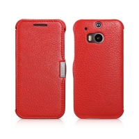 Чехол iCarer для HTC One M8 Litchi Pattern Red