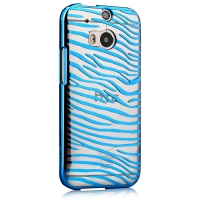 Чехол Vouni для HTC One M8 Glimmer Zebra Blue
