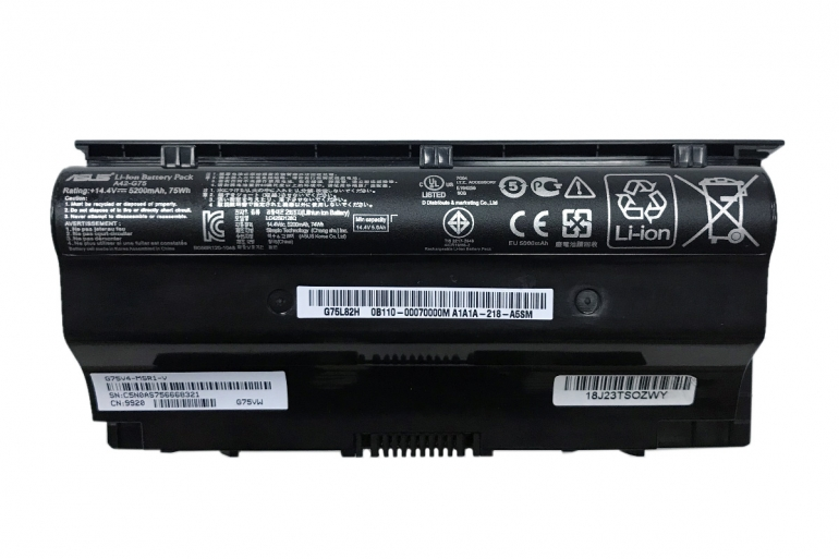 Батарея Asus G75V G75VM G75VW G75VX G75V 3D G75VM 3D G75VW 3D G75VX 3D 14.4V 5200mAh