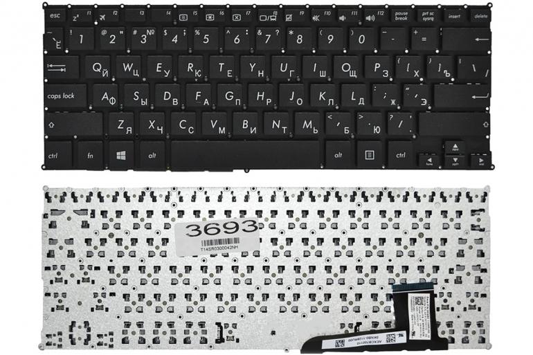 Клавиатура для ноутбука Asus X201 X201E X202 X202E S200 X205T черная без рамки Прямой Enter