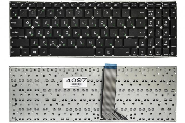 Клавиатура для ноутбука Asus K555L K555LA K555LD K555LN K555LP X553M K553M F553M черная без рамки Прямой Enter