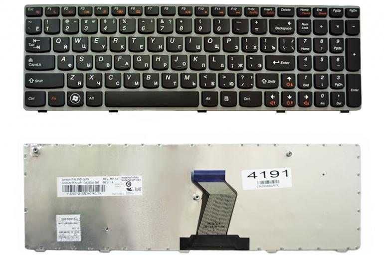 Клавиатура Lenovo IdeaPad G570 Z560 Z560A Z565A черная/серая