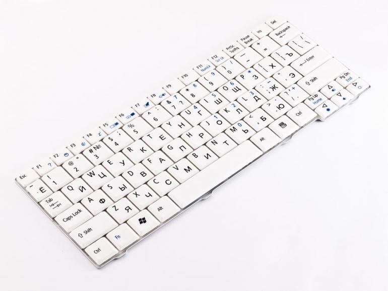 Клавиатура для ноутбука Acer Aspire One 531H D150 D250 P531 A11O A150 eMachines 250 Gateway LT1000 белая
