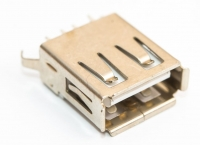Разъем USB 2.0 A02/C single (13х5х13мм)in board slit