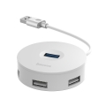 USB Hub Baseus Round Box USB3.0 to USB3.0*1 + USB2.0*3 Белый