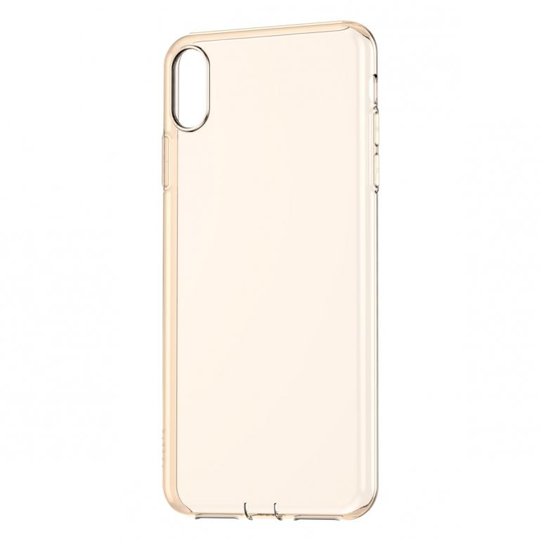 Чехол Baseus для iPhone Xs Max Simplicity Прозрачный Золотой