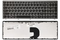 Клавиатура для ноутбука Lenovo IdeaPad Z500 Z500A Z500G Z500T P500 P500A черная/серая