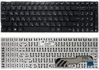 Клавиатура для ноутбука Asus X541 Asus R541 PWR черная без рамки Прямой Enter