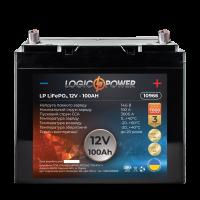 Аккумулятор для автомобиля литиевый LogicPower Lifepo4 12V-100Ah (+ слева, прямая полярность) пластик