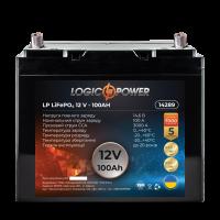 Аккумулятор для автомобиля литиевый LogicPower Lifepo4 12V-100Ah (+ справа, обратная полярность) пластик