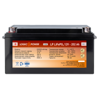 Аккумулятор для автомобиля литиевый LogicPower Lifepo4 12V-202Ah (+ слева, прямая полярность) пластик