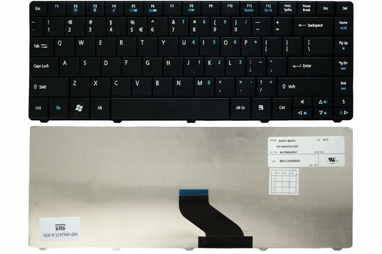Клавиатура для ноутбука Acer Aspire E1-421 E1-431 E1-471 TravelMate 8371 8371G 8471 8471G черная US + наклейки