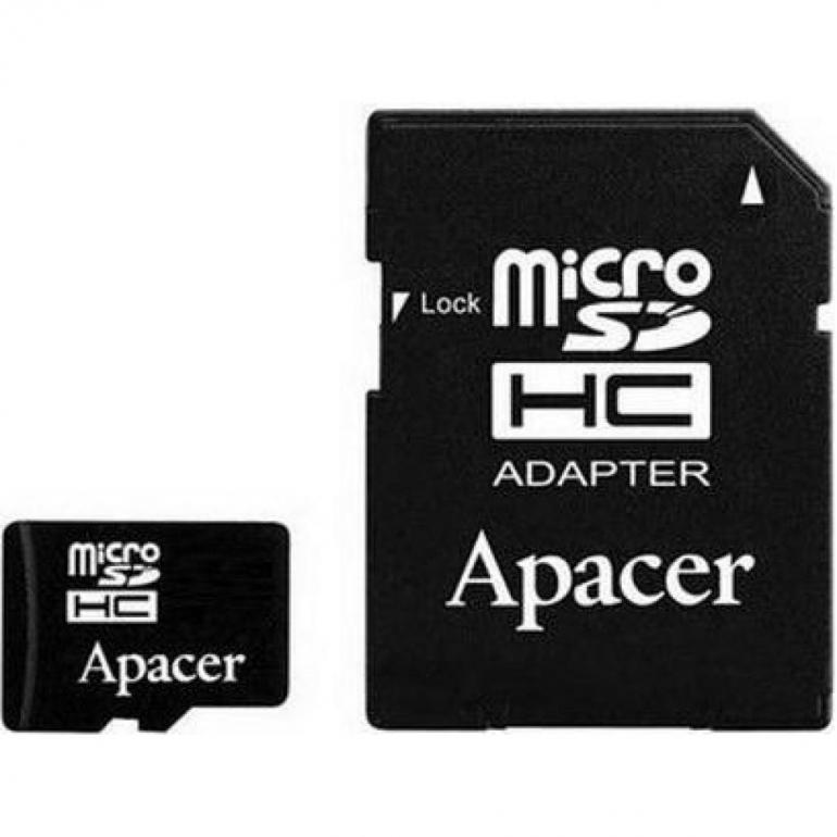 Карта памяти Apacer microSDHC 32GB Class 10 UHS-1 + SD-адаптер