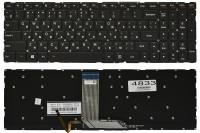Клавиатура Lenovo Yoga 500-15IBD 500-15ISK 500-15ACL 500-15IHW черная без рамки Прямой Enter подсветка