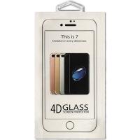 Защитное cтекло Buff для Apple iPhone 8 Plus/7 Plus, 4D, 0.3mm, 9H, белое
