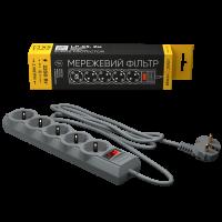Сетевой фильтр LogicPower LP-X5 2 м, 5 розеток, серый