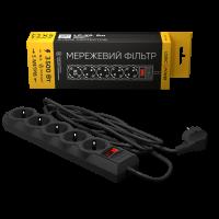 Сетевой фильтр LogicPower LP-X5 5 м, 5 розеток, черный