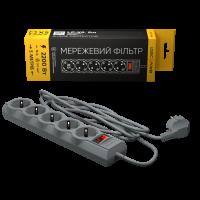 Сетевой фильтр LogicPower LP-X5 5 м, 5 розеток, серый