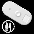 Беспроводное зарядное устройство Baseus Smart 18W 3 in1 Белый