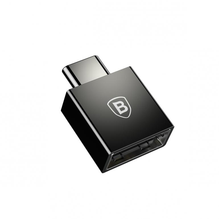Переходник Baseus Exquisite Type-C to USB Черный